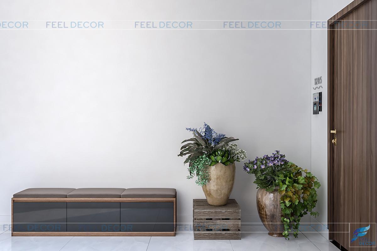 Thiết kế thi công nội thất phòng khách, bếp căn hộ 125m2
