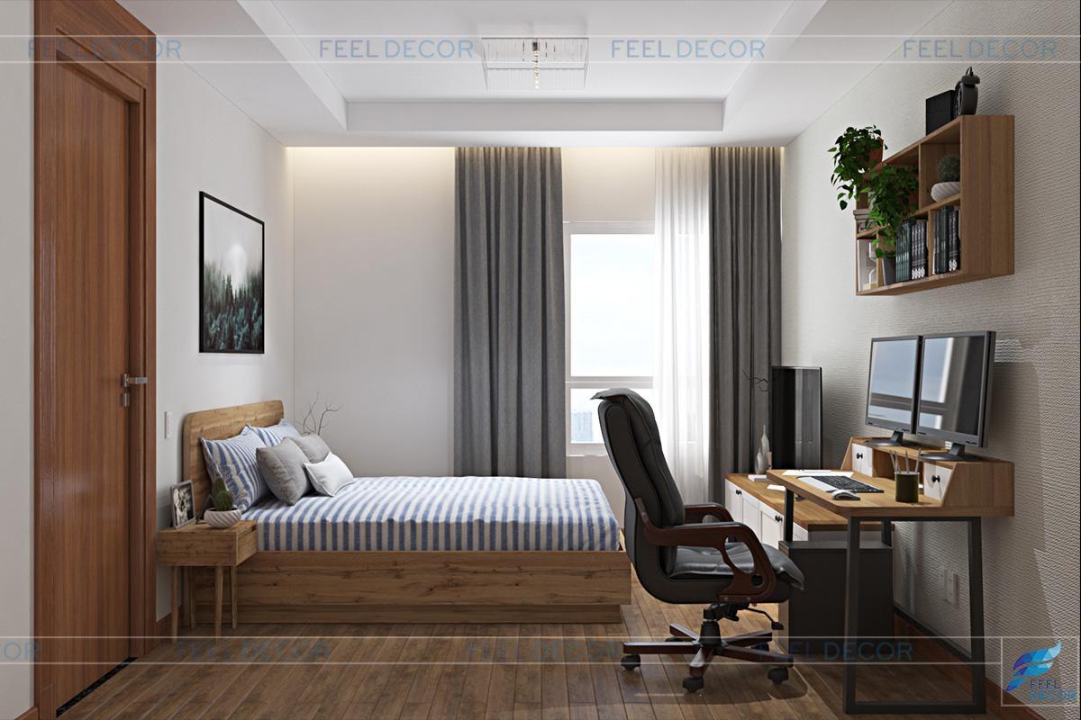 Thiết kế nội thất phòng ngủ căn hộ Xi Riverview Palace