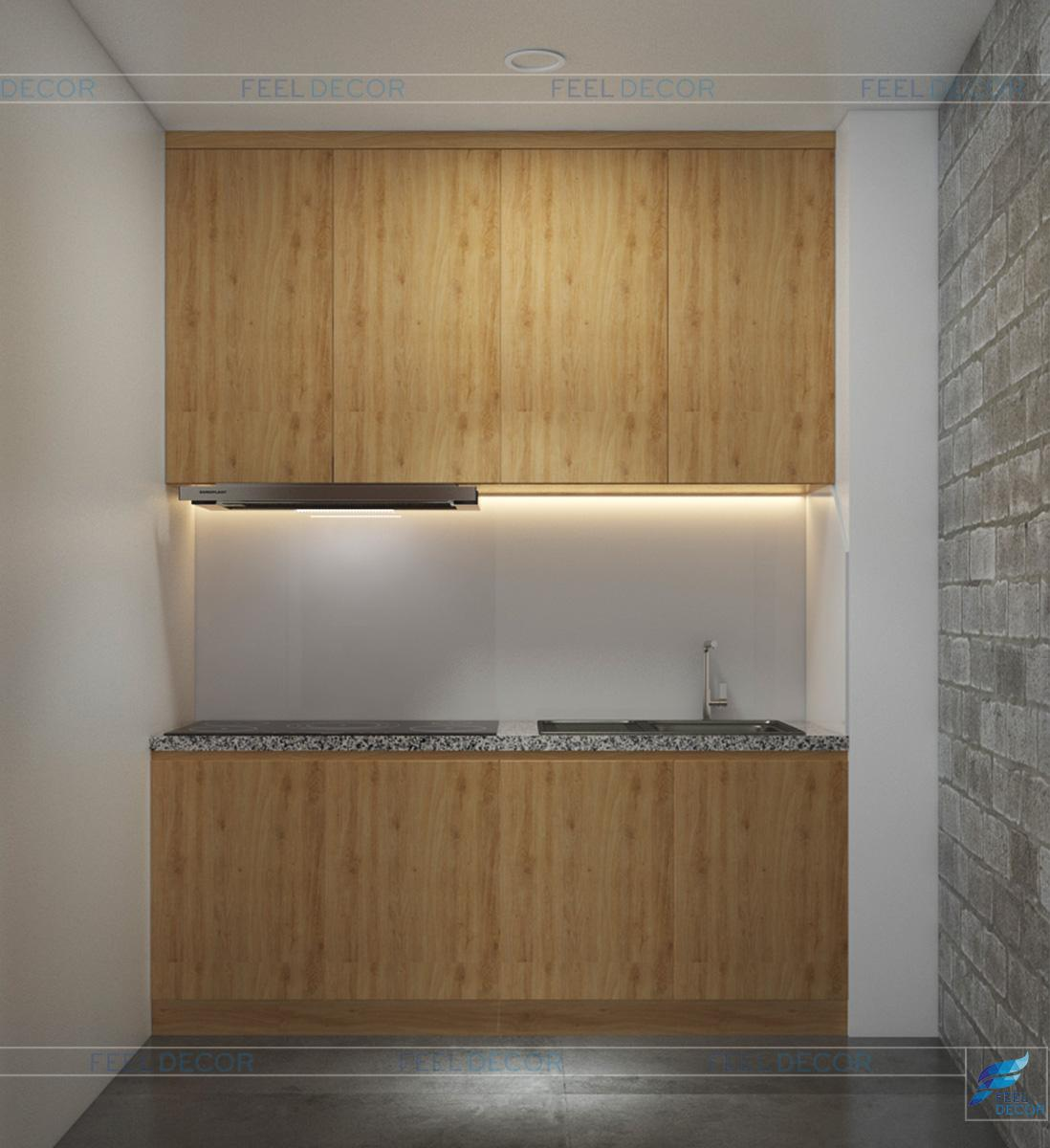 Thiết kế thi công nội thất phòng bếp Coffee Tô Ký