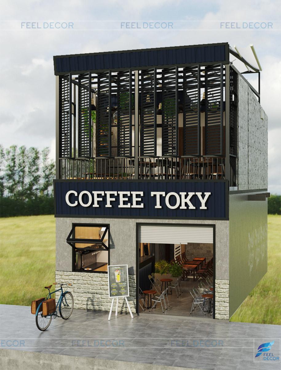Thiết kế thi công nội thất Coffee Tô Ký