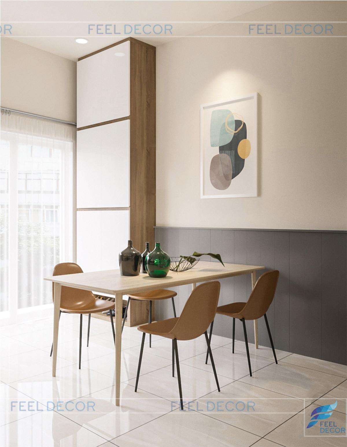 Thiết kế thi công nội thất nhà phố 375m2 Hoàng Hoa Thám