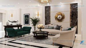 Thiết kế nội thất tầng trệt nhà phố Bình Dương