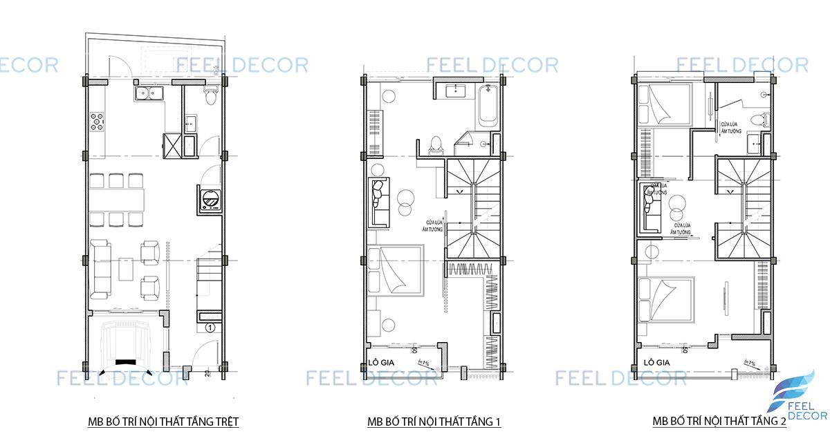 Thiết kế thi công nội thất nhà phố Golf Park của Novaland tại Quận 9 – FD5918