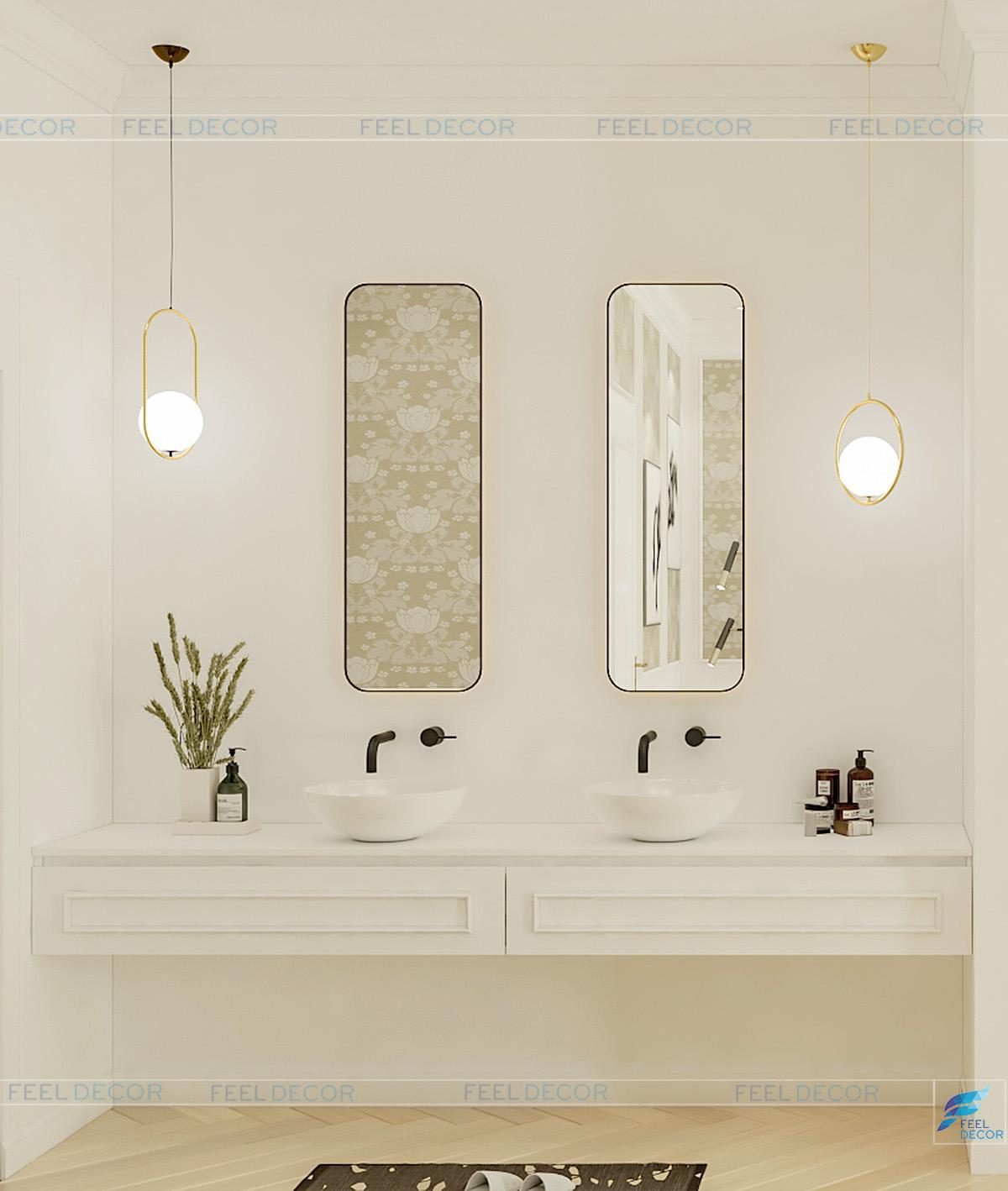 Hình ảnh 3D thiết kế nội thất phòng ngủ nhà phố LakeView quận 2