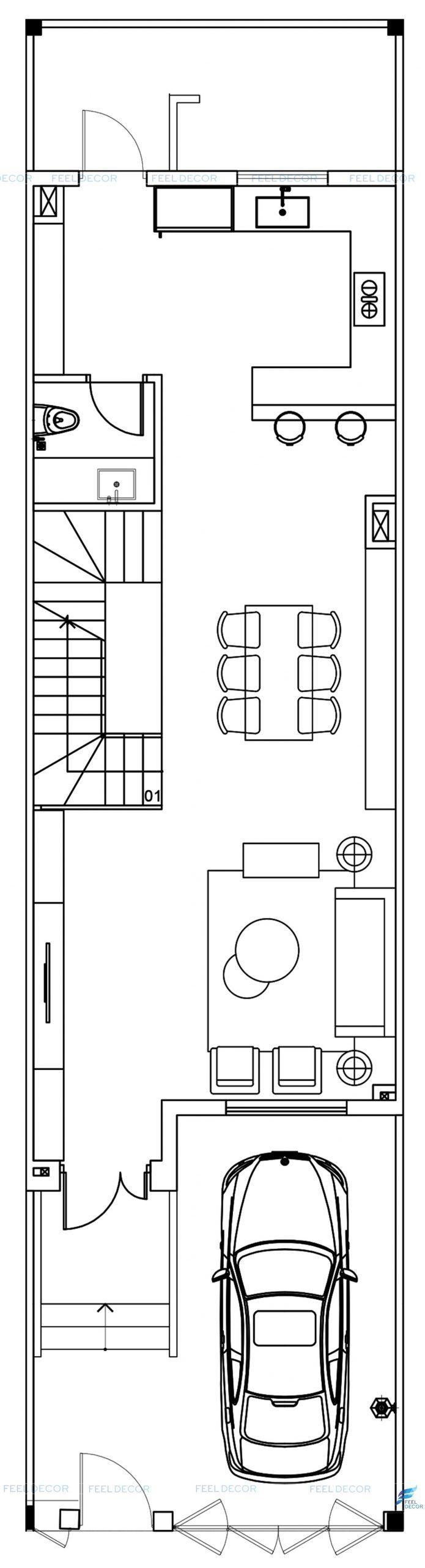 Hình ảnh 3D thiết kế nội thất nhà phố LakeView quận 2