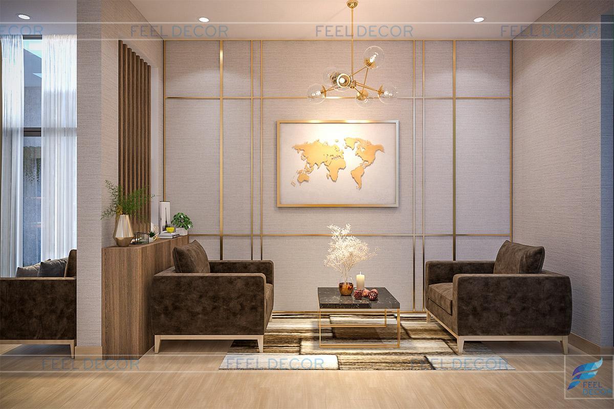 Thiết kế thi công nội thất nhà phố Long An - Tầng trệt
