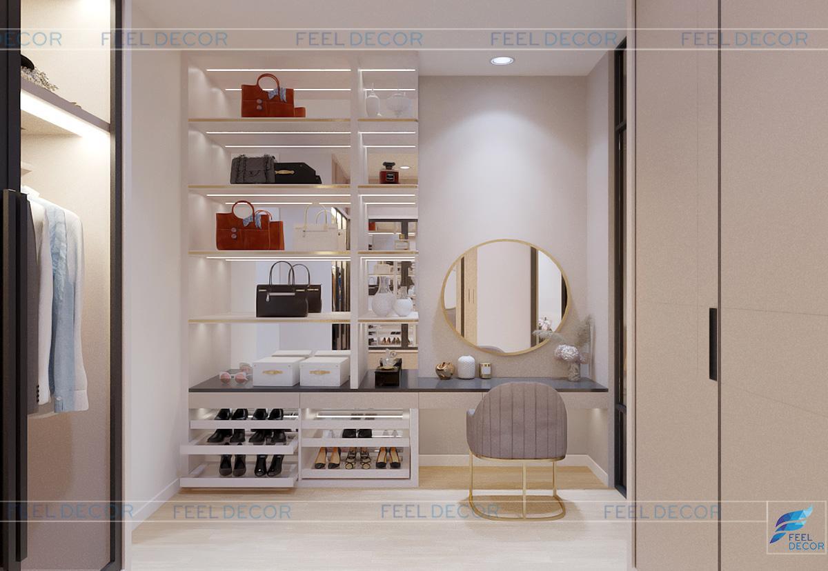 Thiết kế thi công nội thất nhà ngủ nhà phố Long An