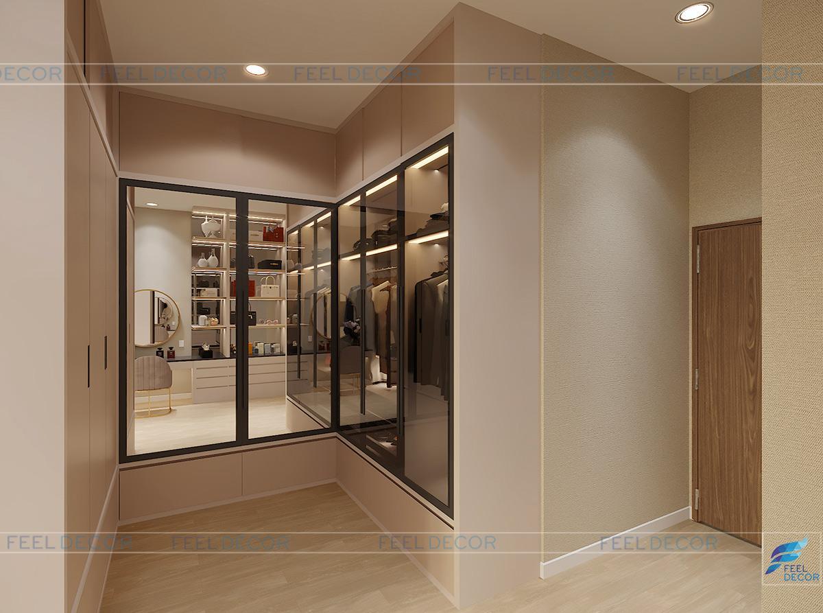 Thiết kế thi công nội thất phòng ngủ nhà phố Long An