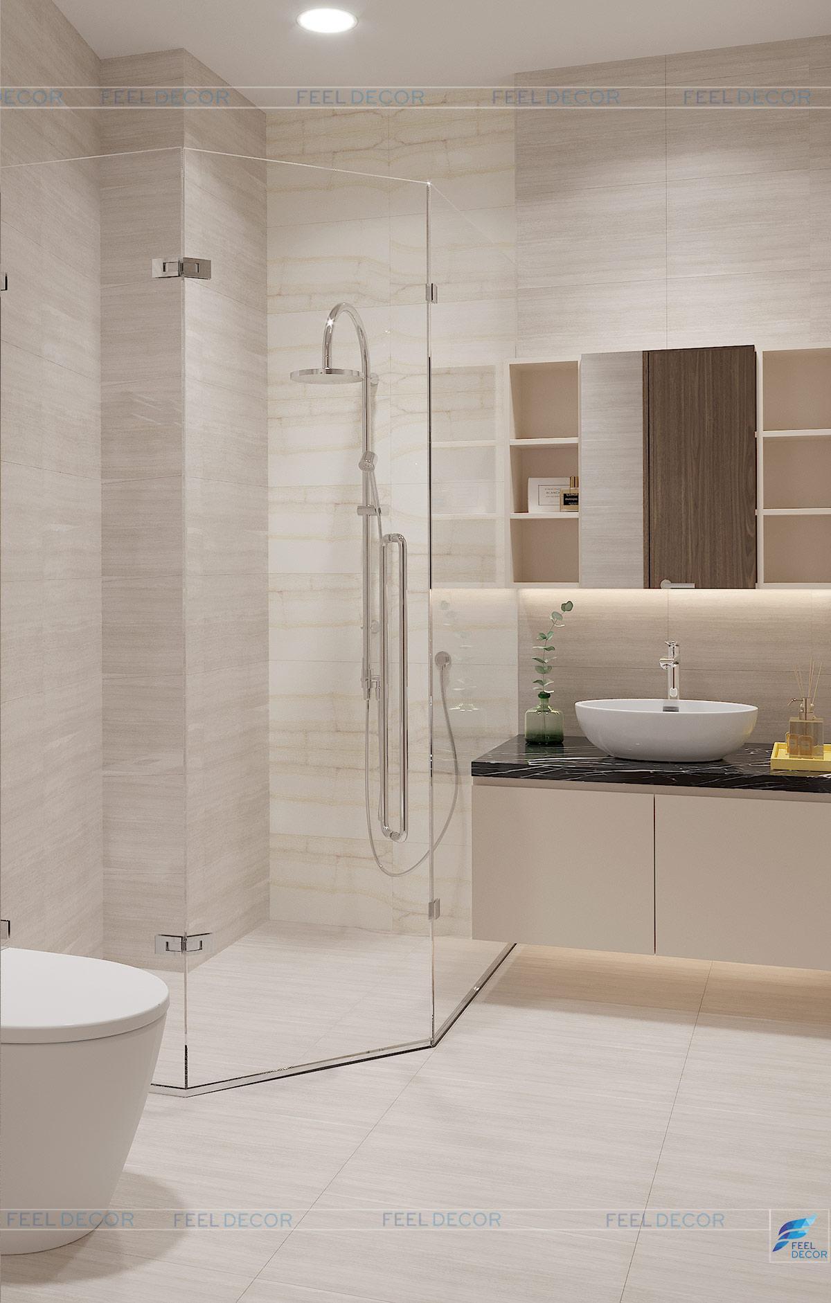 Thiết kế thi công nội thất nhà vệ sinh nhà phố Long An