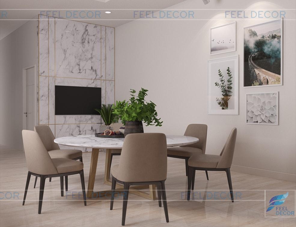 thiết kế thi công nội thất phòng bếp nhà phố Long An