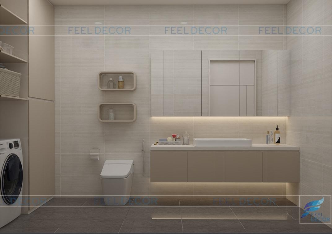 thiết kế thi công nội thất phòng ve sinh nhà phố Long An