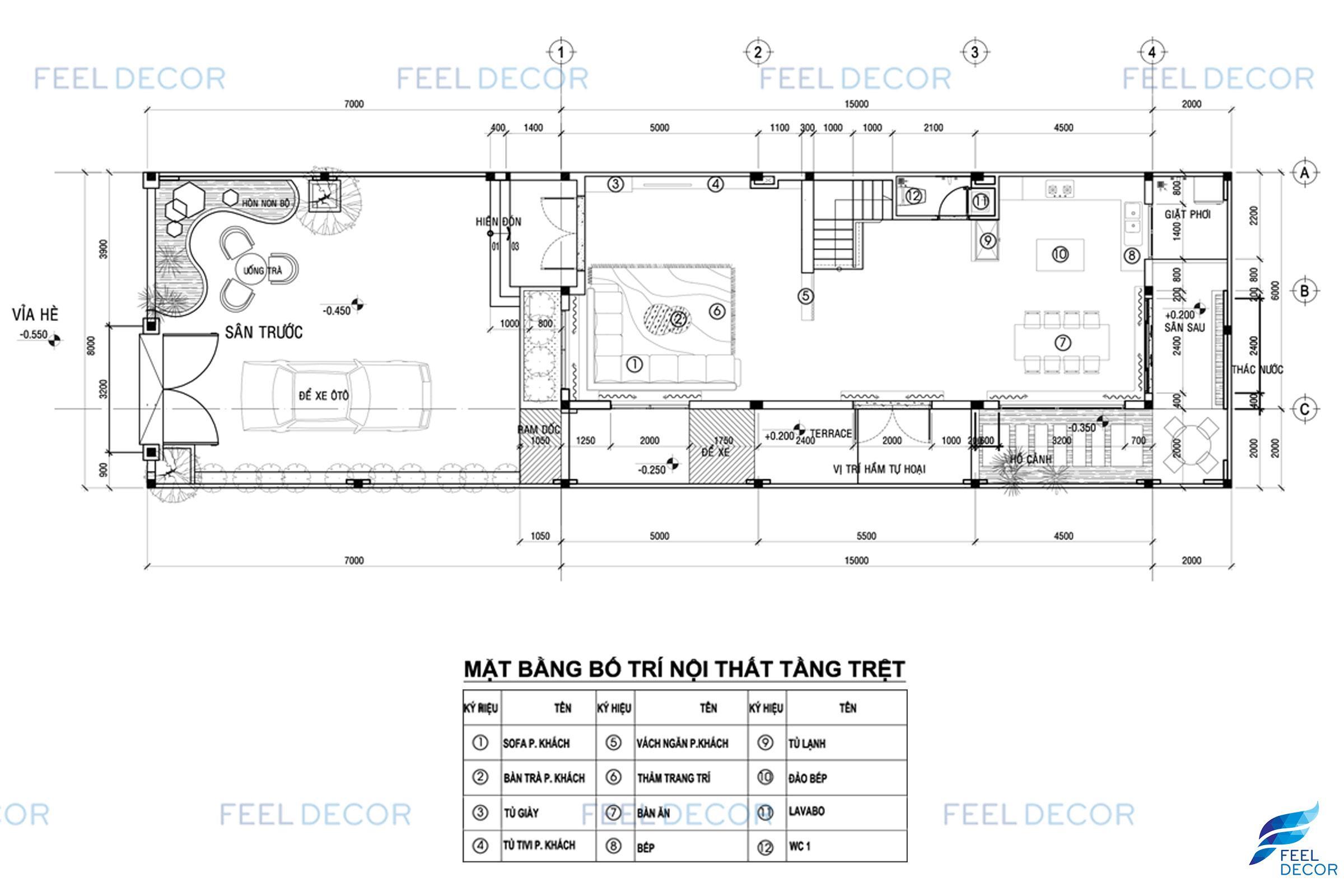 Hình ảnh 3D nội thất nhà phố quận 9
