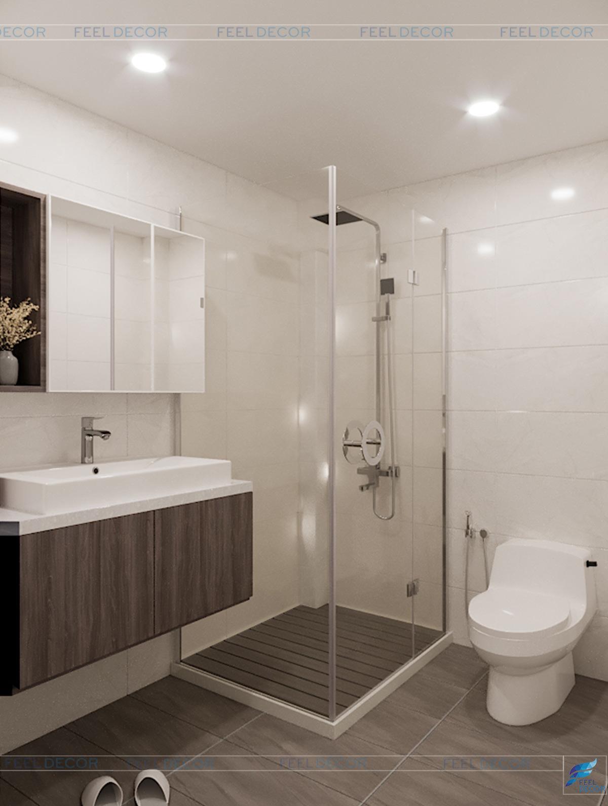 Thiết kế nội thất phòng vệ sinh nhà phố Tân Bình