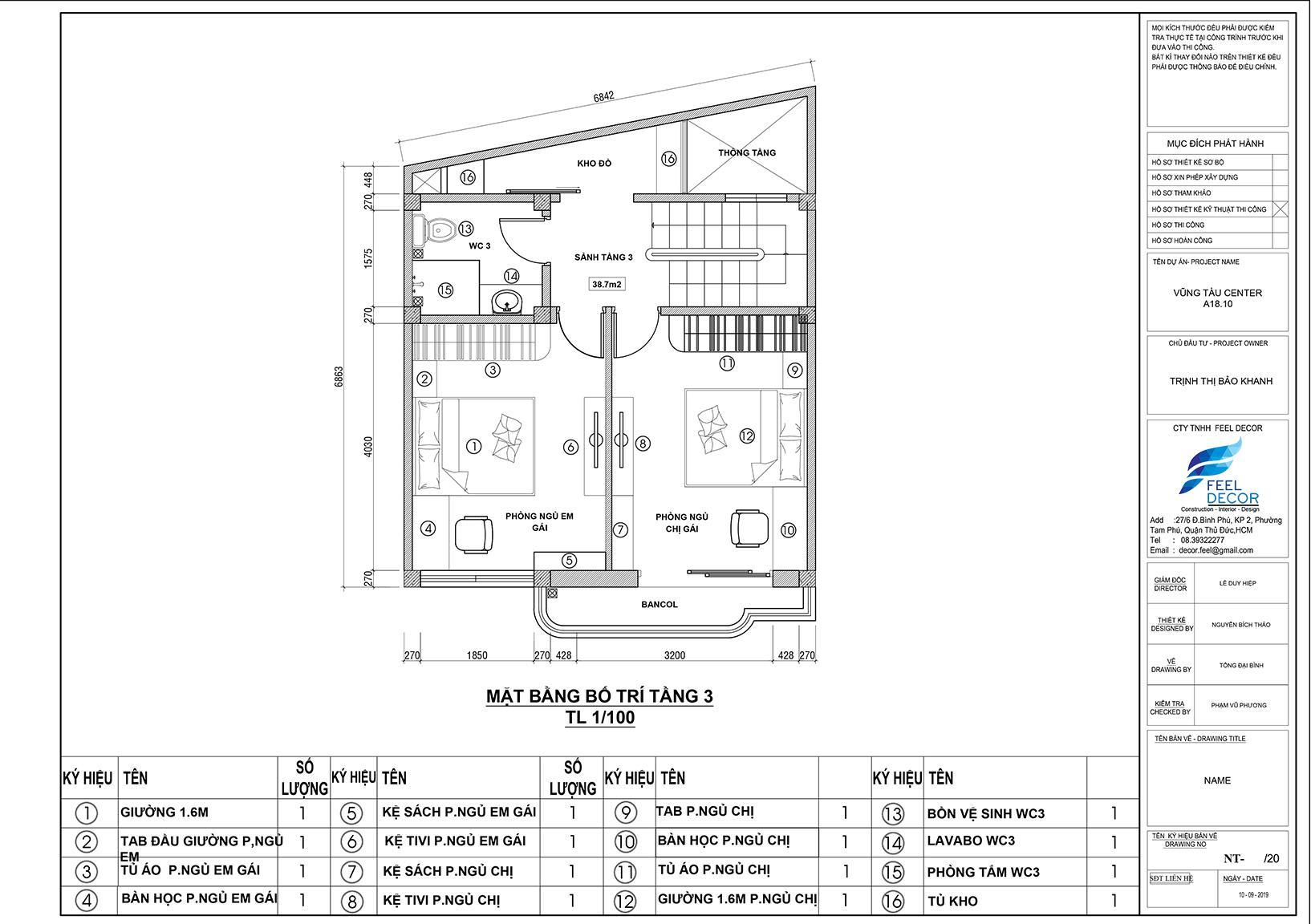 Hình ảnh 3D nội thất nhà phố Tân Bình
