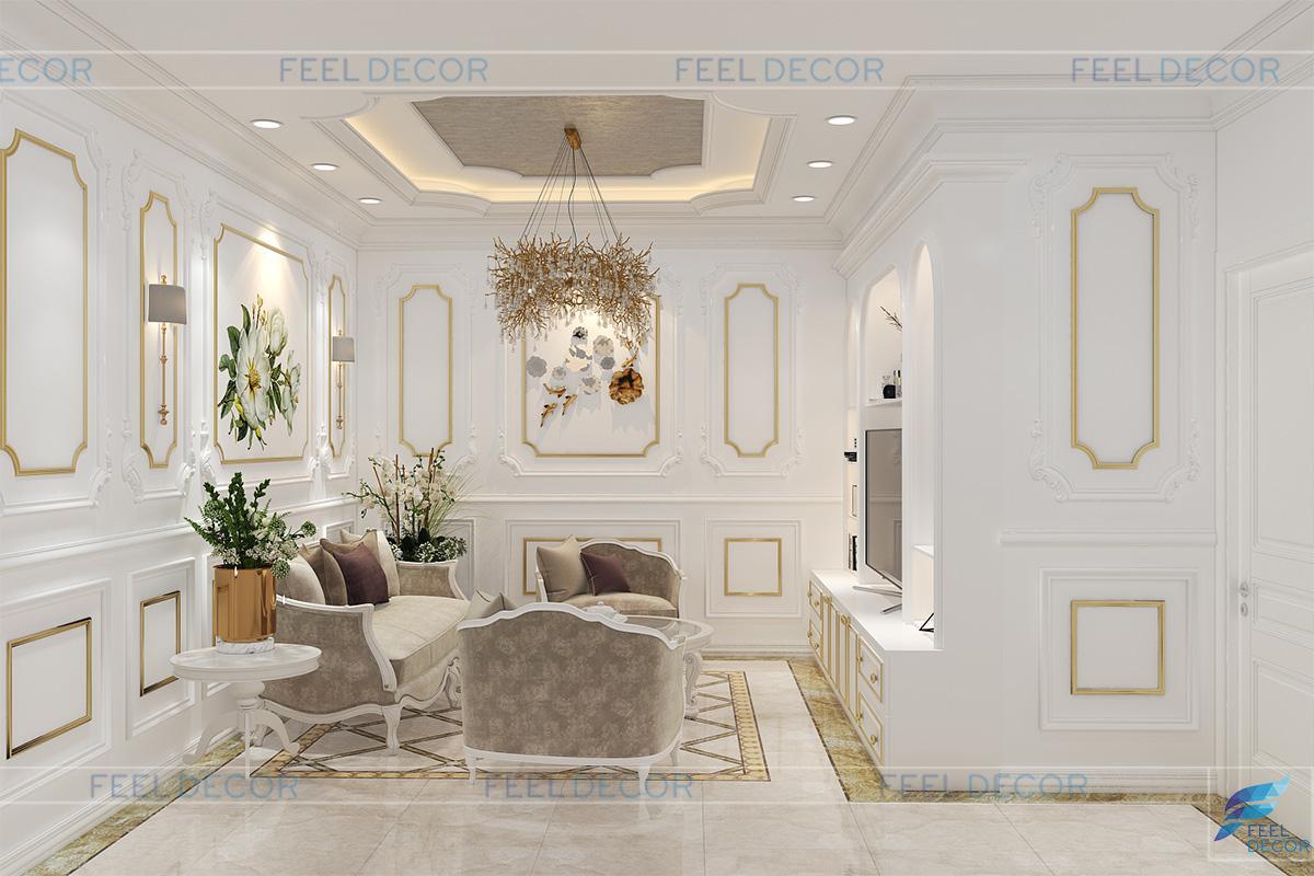 Thiết kế thi công nội thất nhà phố Thủ Đức 480m2 – Chủ đầu tư Chị Nga