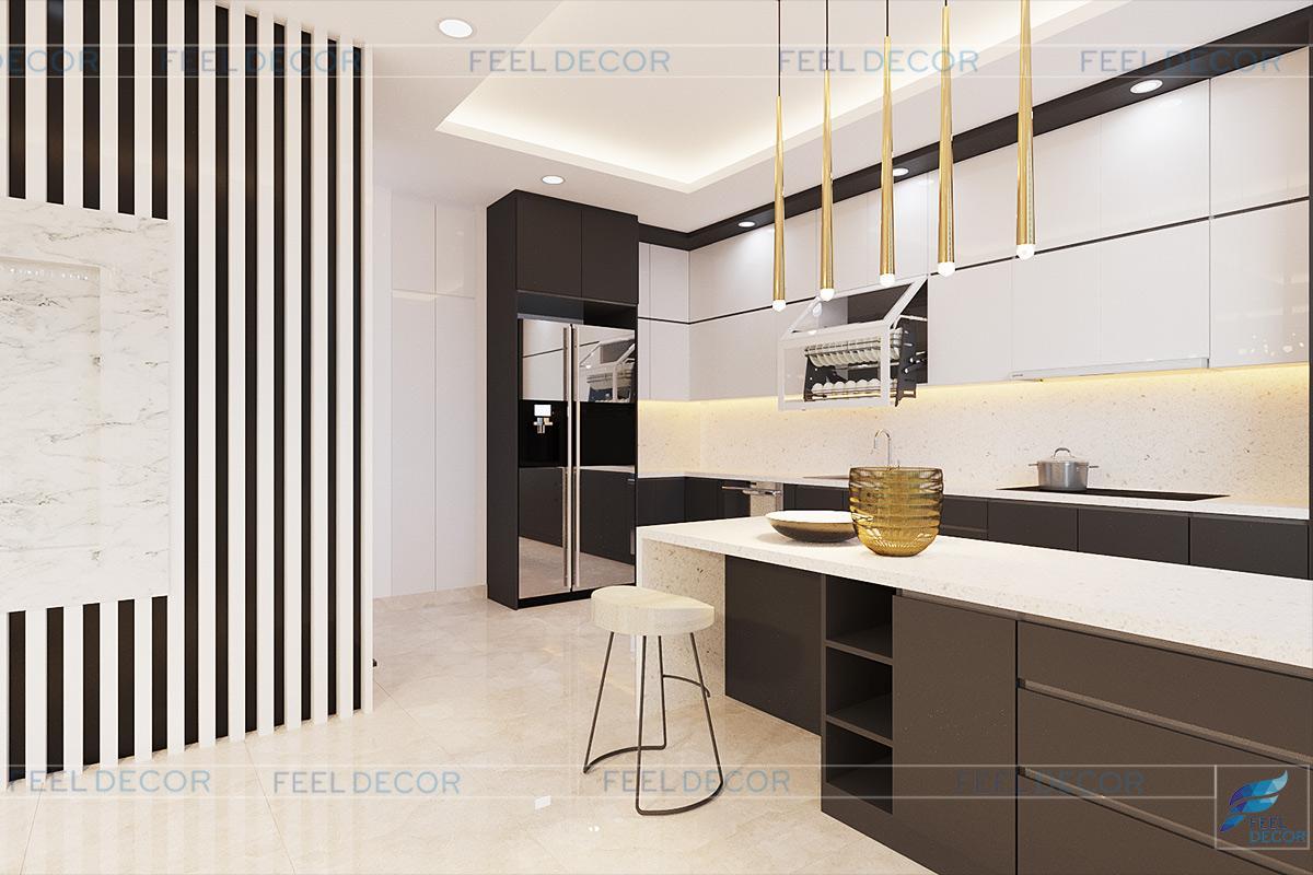 không gian phòng bếp tiện nghi