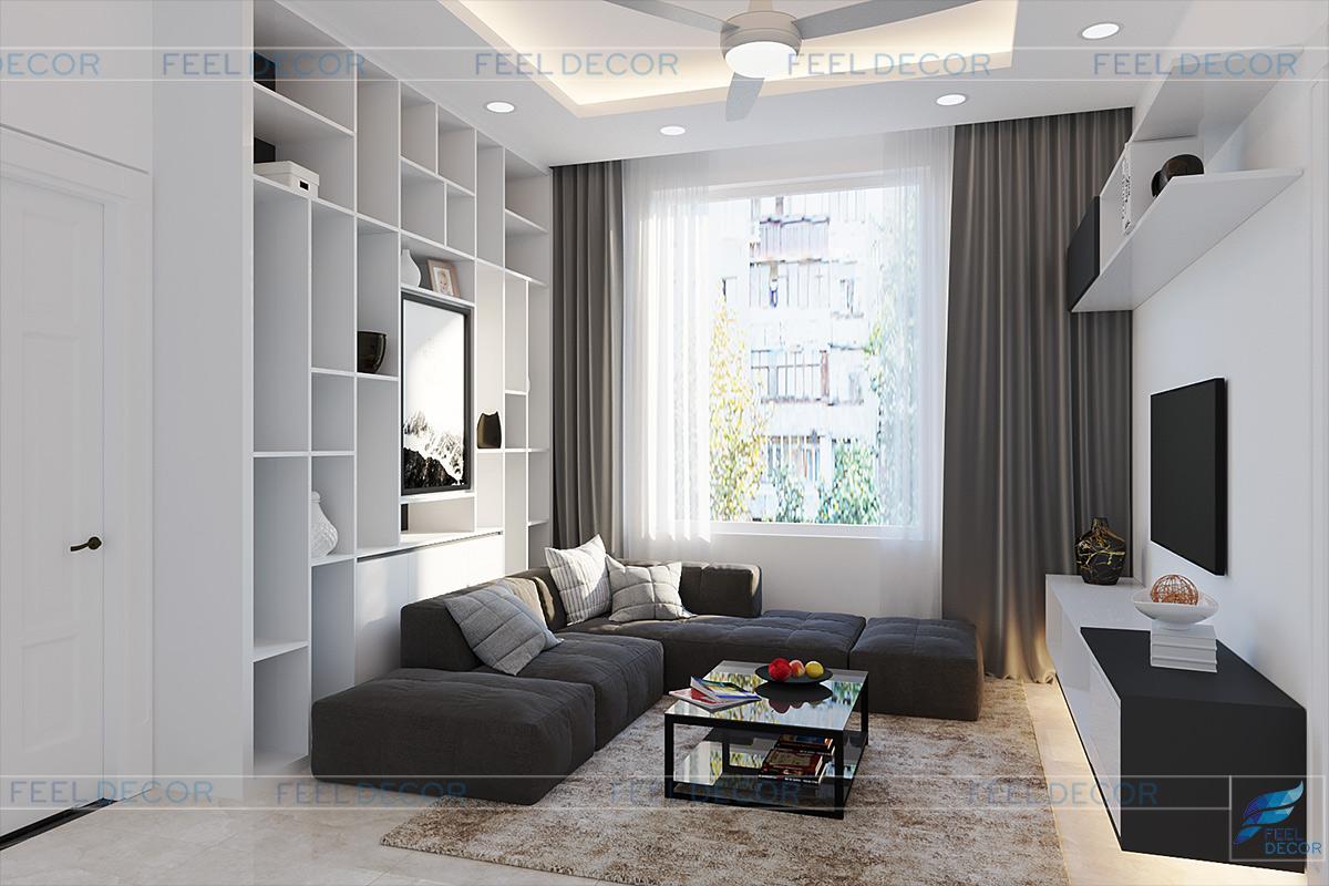 thiết kế thi công nội thất phòng sinh hoạt chung