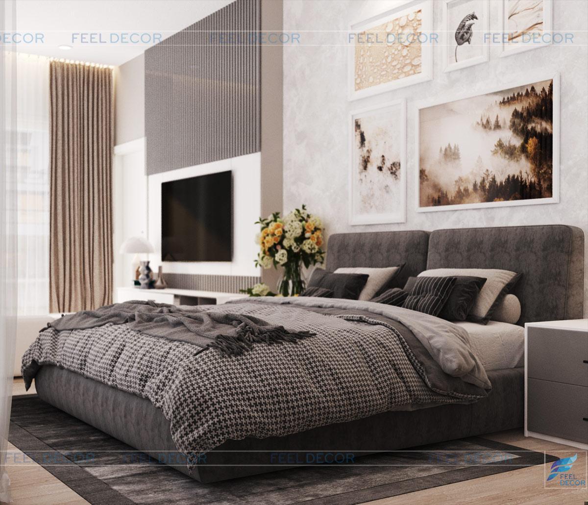 Không gian phòng ngủ Master nhà phố Thủ Đức