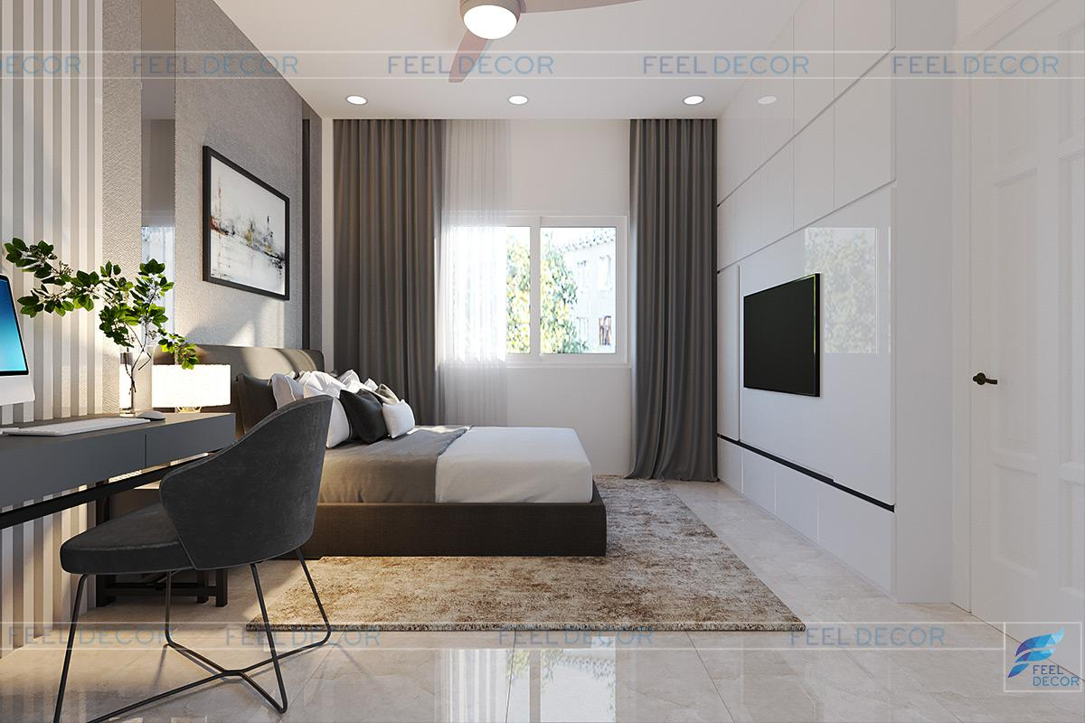 thiết kế phòng ngủ của ba nhà phố thủ đức