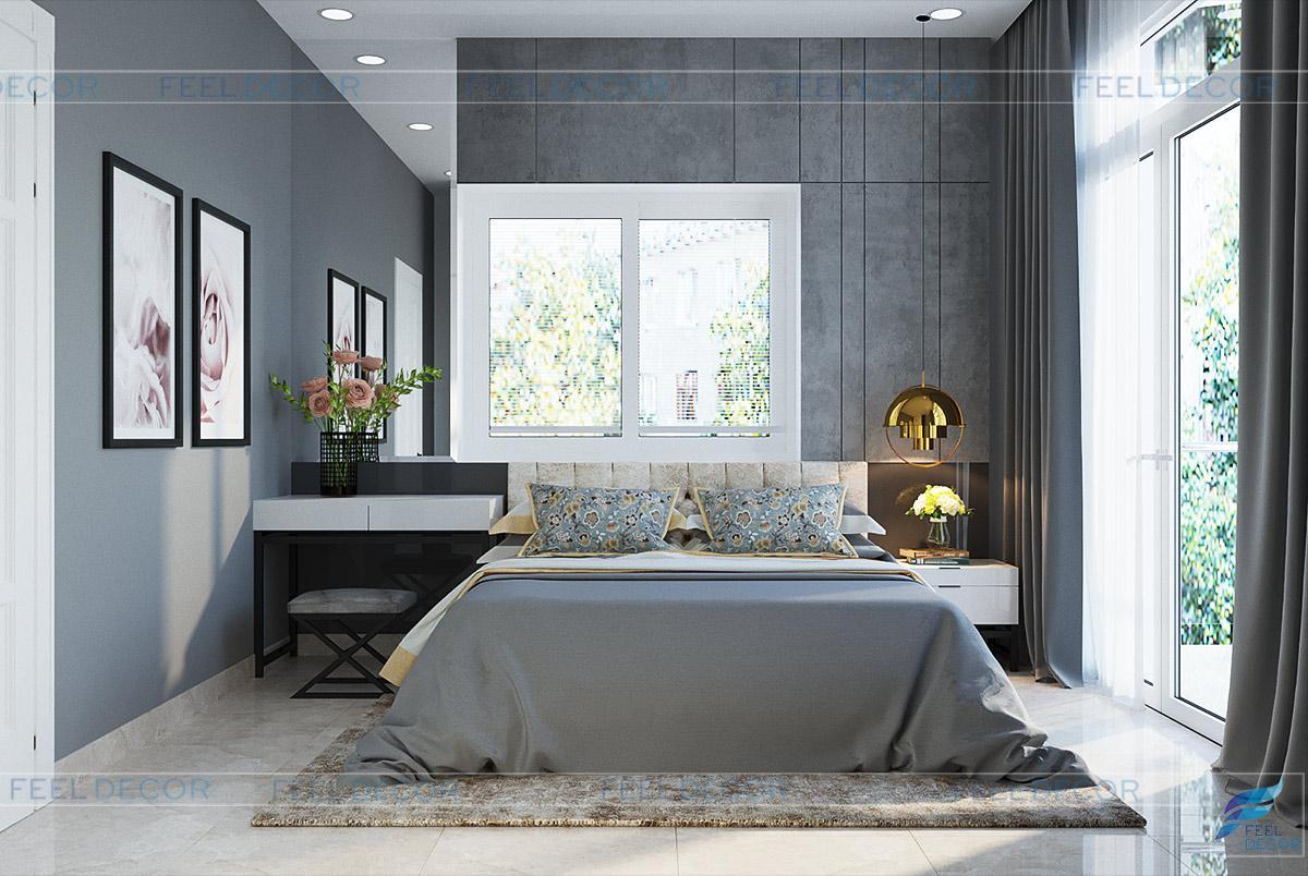 Thiết kế nội thất phòng ngủ cho con gái nhà phố Thủ Đức