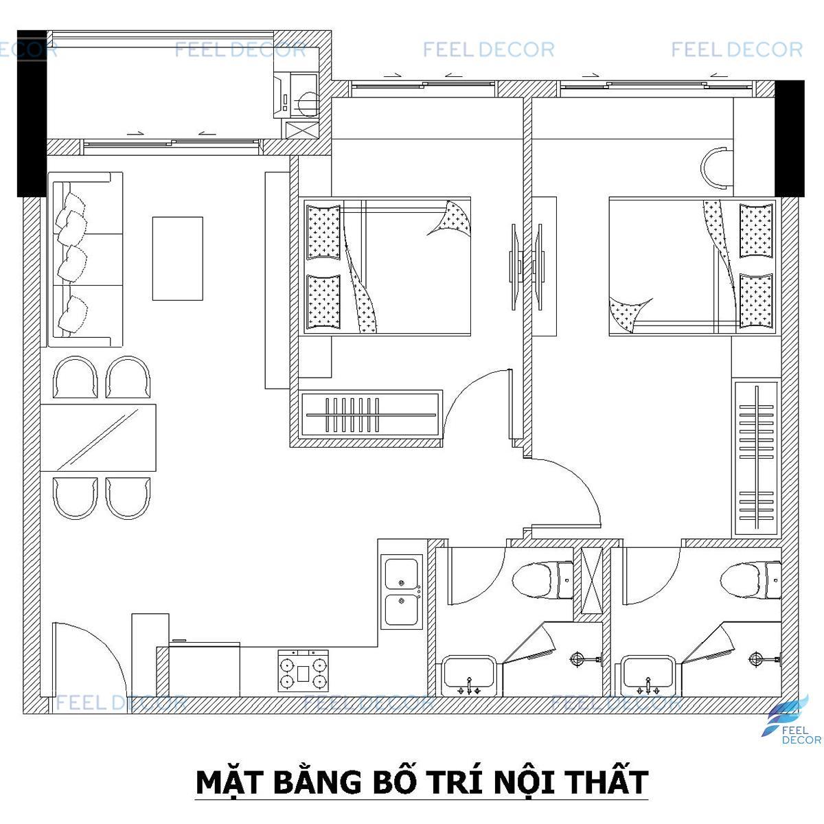 Thiết kế thi công nội thất căn hộ chung cư Botanica Premier