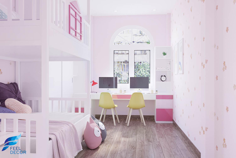 Thiết kế nội thất phòng ngủ nhà phố quận 5