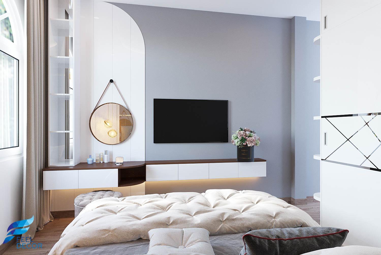 Thiết kế không gian phòng ngủ Master nhà phố quận 5