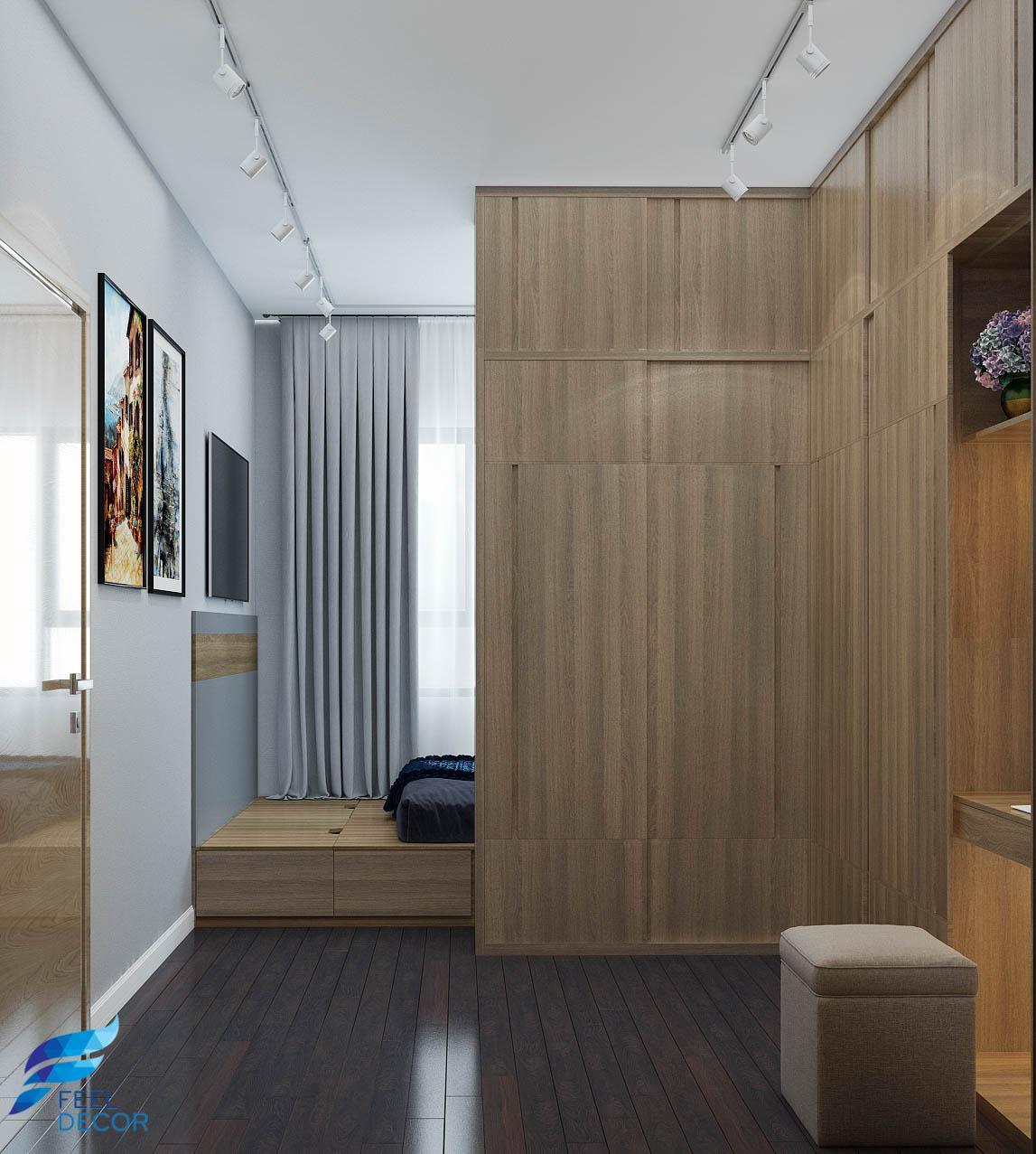 thiết kế nội thất phòng ngủ căn hộ Botanica Premier