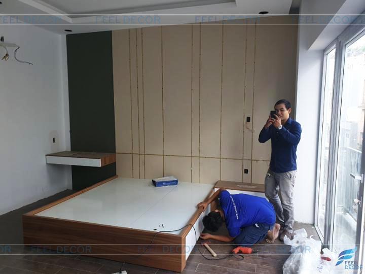 Hình ảnh thực tế thi công lắp đặt nội thất