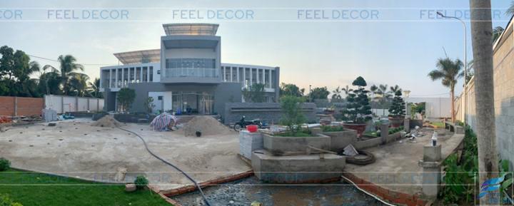 Hình ảnh thực tế dự án biệt thự Mỹ Tho Tiền Giang