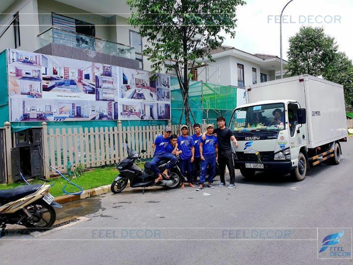 Hình ảnh thực tế dự án nhà phố Nam Long quận 9