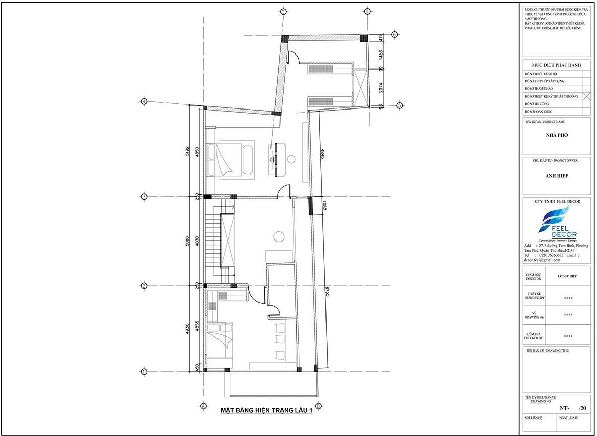 Thiết kế nội thất tầng 1 nhà phố Biên Hòa