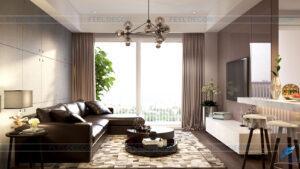thiết kế thi công nội thất căn hộ 112m2 chung cư Sunrise city