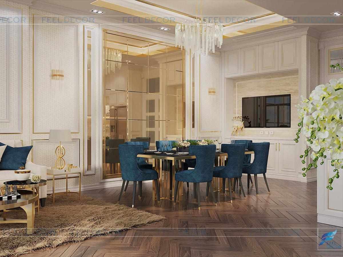 Thiết kế nội thất tầng 5 nhà phố Vạn Phúc Riverside