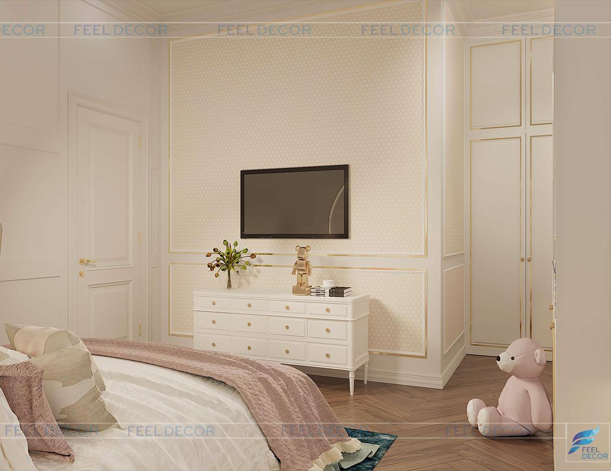 phòng ngủ dễ thương cho bé gái