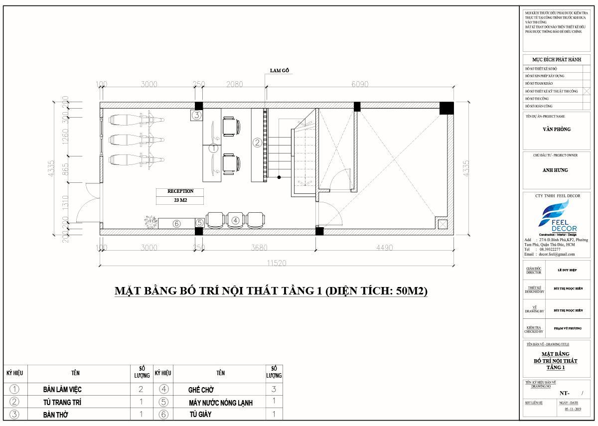 Thiết kế thi công nội thất căn hộ Officetel Lữ Gia
