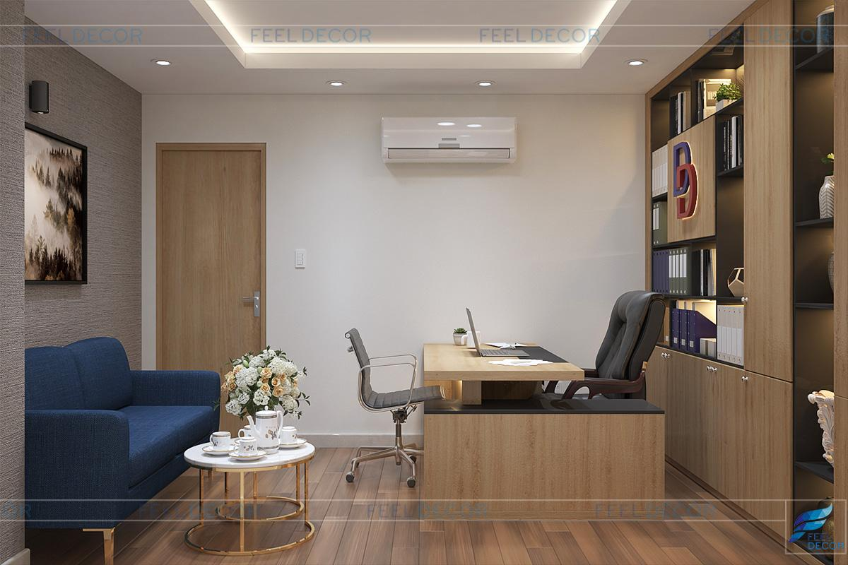 Thiết kế nội thất tầng 2 căn hộ Officetel Lữ Gia