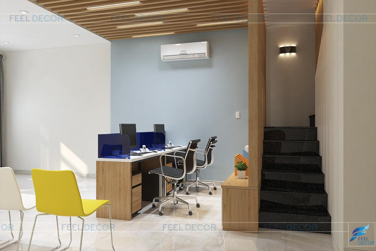 Thiết kế nội thất tầng 1 căn hộ Officetel Lữ Gia