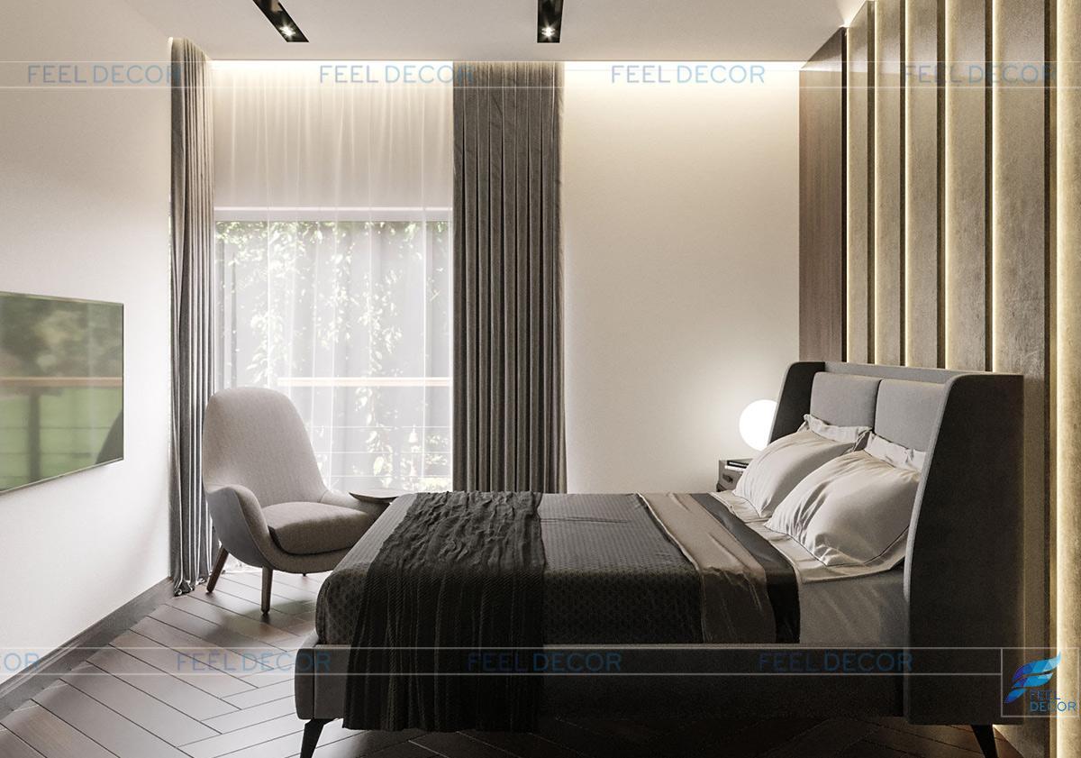 Thiết kế thi công nội thất tầng 1 căn hộ mẫu biệt thự Lavila