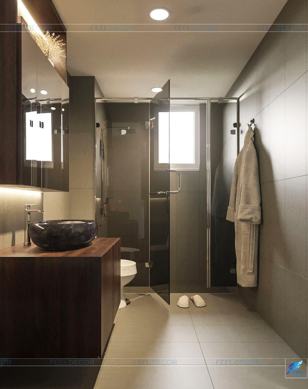 phòng vệ sinh tiện nghi, hiện đại