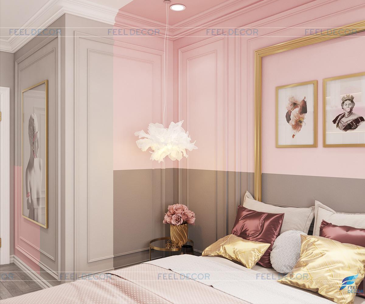 Thiết kế nội thất phòng ngủ trẻ em căn hộ chung cư Sài Gòn South Phú Mỹ Hưng
