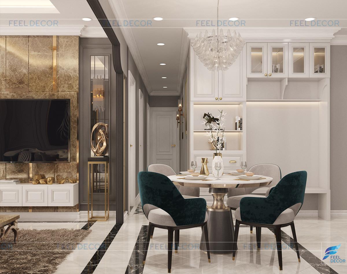 Thiết kế nội thất phòng bếp căn hộ chung cư Sài Gòn South Phú Mỹ Hưng