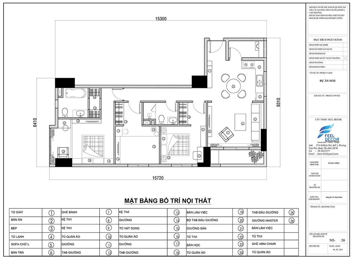 Thiết kế nội thất căn hộ chung cư Sài Gòn South Phú Mỹ Hưng