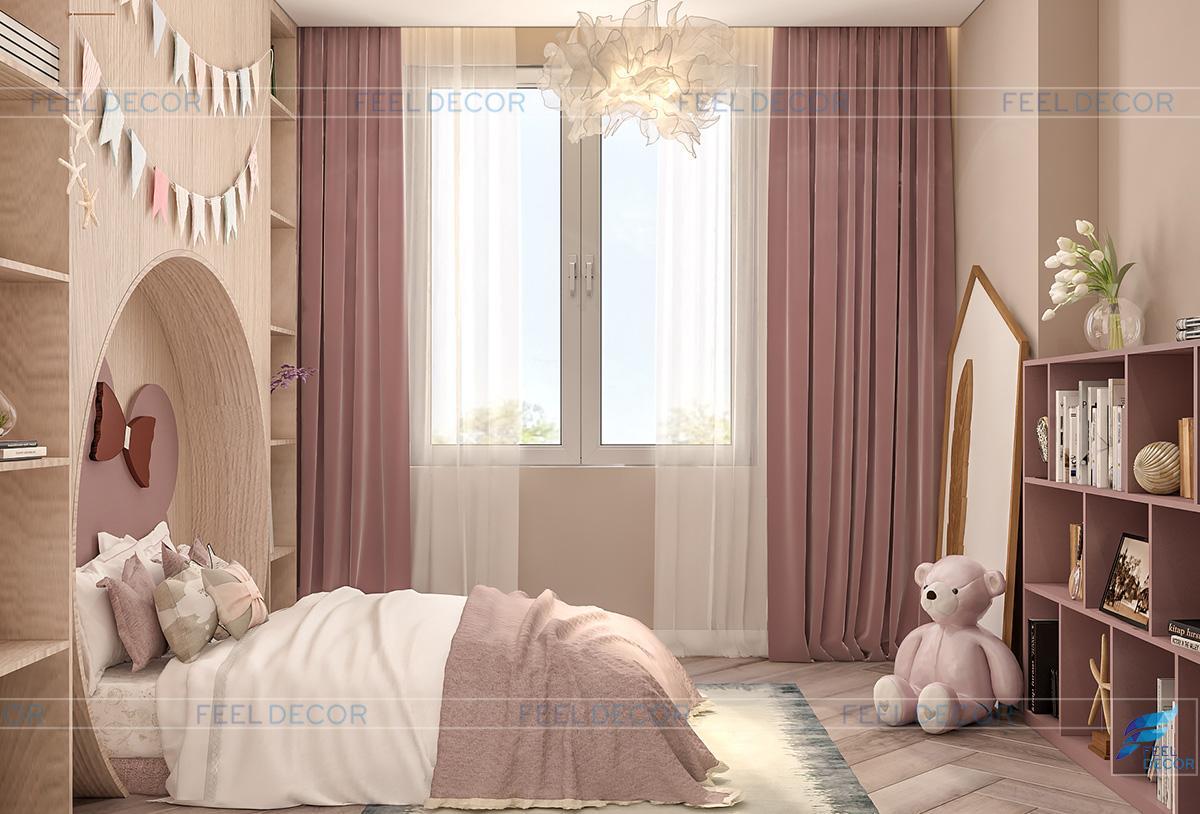 không gian phòng ngủ cho bé gái