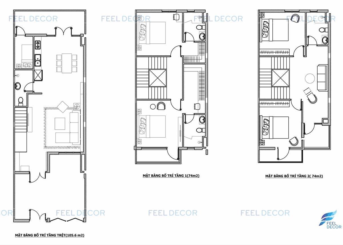 Thiết kế thi công nội thất căn hộ mẫu biệt thự Lavila