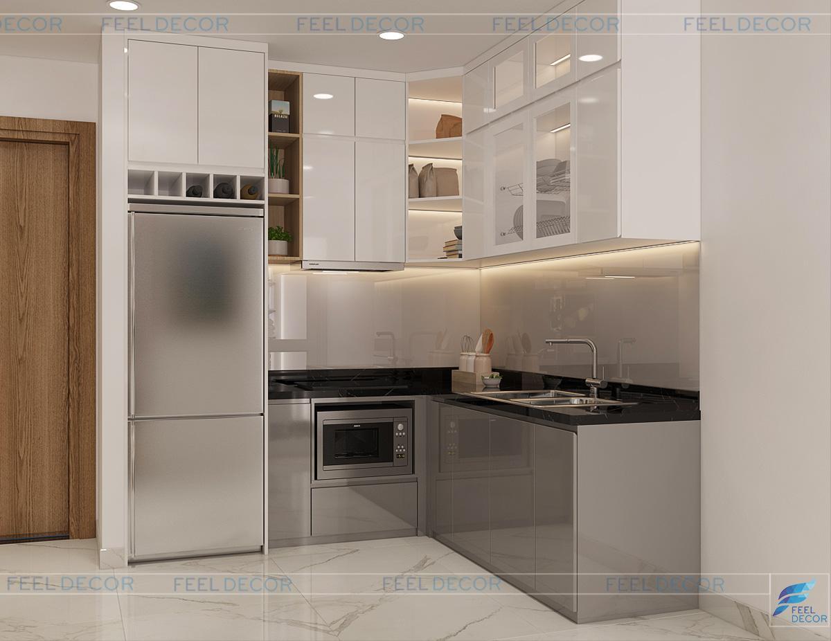 thiết kế nội thất phòng bếp Sài Gòn South Residence