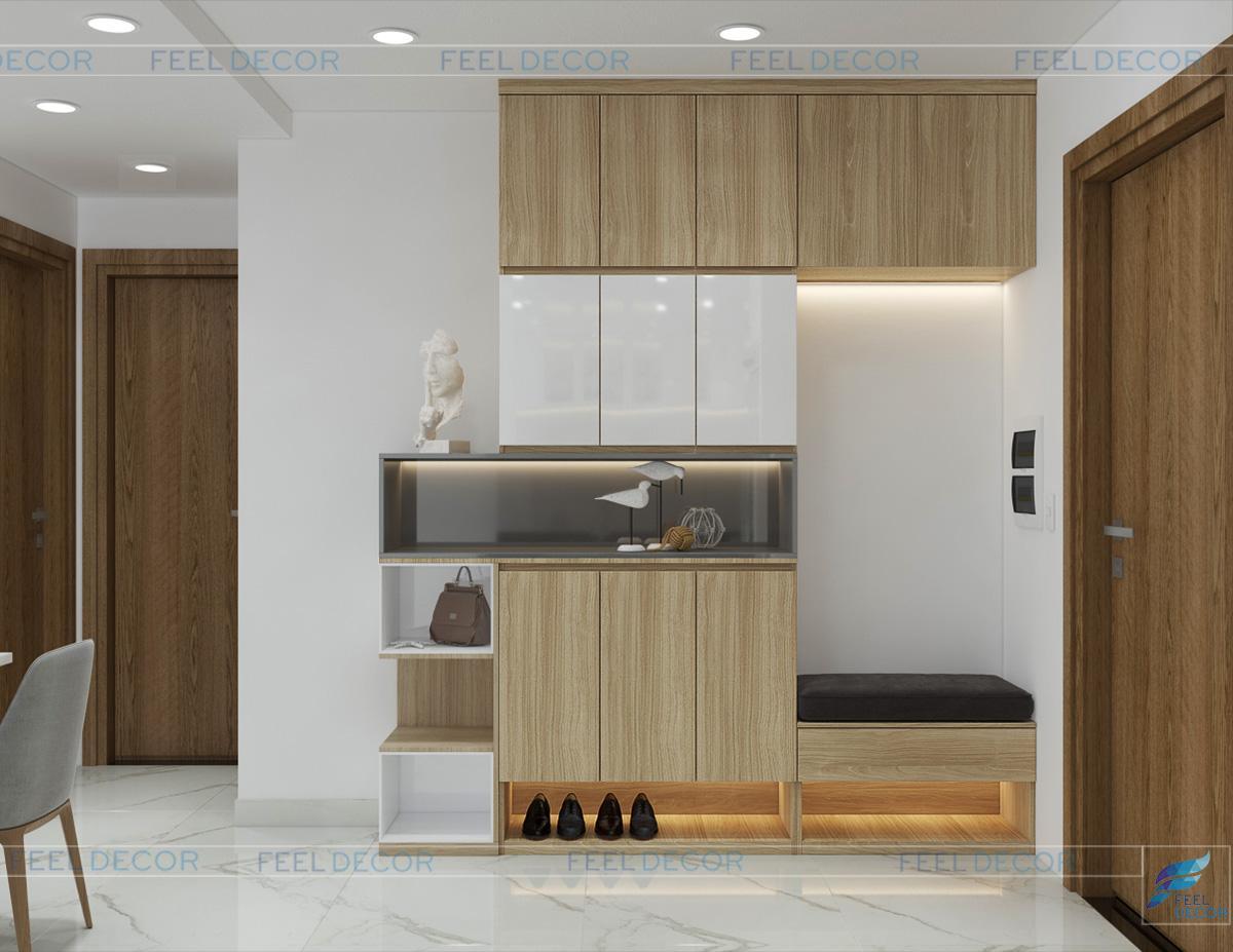 thiết kế nội thất phòng khách Sài Gòn South Residence