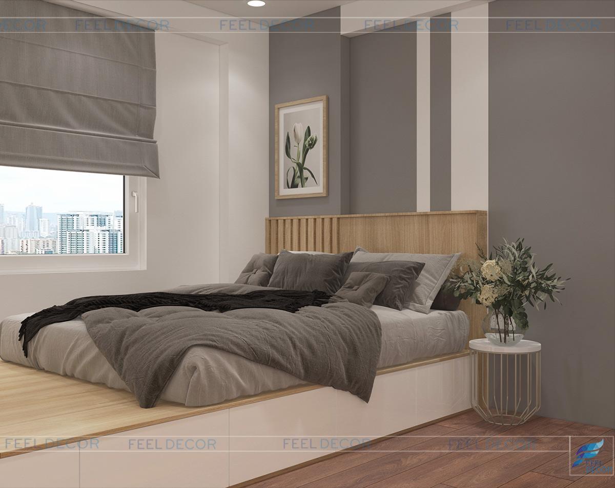 thiết kế nội thất phòng ngủ đơn giản hiện đại