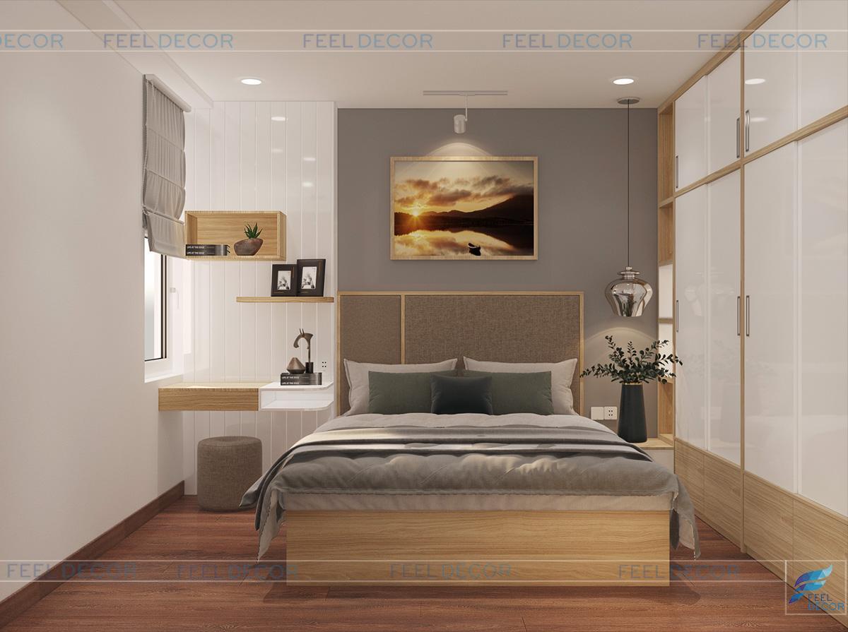 thiết kế nội thất phòng ngủ Sài Gòn South Residence