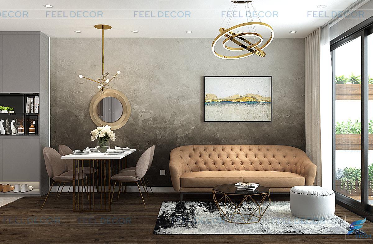Thiết kế thi công nội thất căn hộ chung cư Diamond Lotus